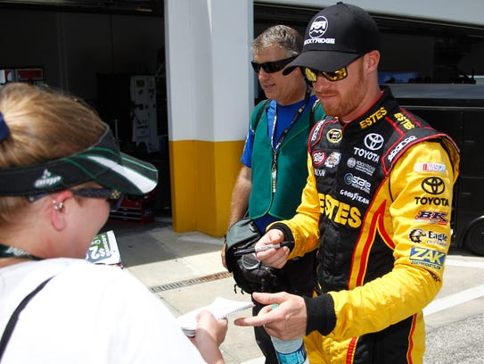 When Jeb Burton was a kid he sold autographs of NASCAR