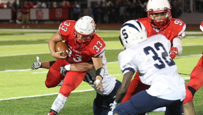 Port Clinton's Cooper Stine rushed for three scores last week.