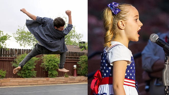 Dancer Marco Vaccaro, 18, and singer Ellie Felice Seegmiller, 8, are both among the finalists at this year's Dixie's Got Talent competition on Jan. 19 at Dixie State University in St. George.