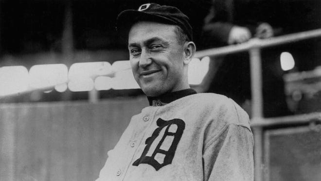 Ty Cobb is smiling here, but portrayals of the Detroit Tigers legend haven't always been so friendly.