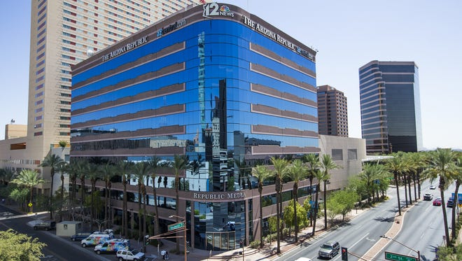 The Arizona Republic building at 200 E. Van Buren St. in Phoenix.
