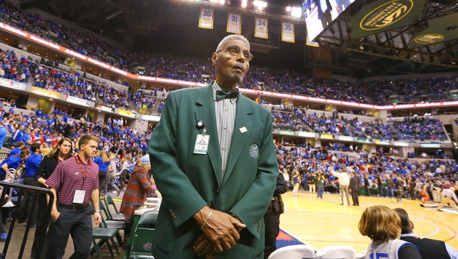 Former Crispus Attucks Tiger Cleveland Harp now works the stands as an usher at Bankers Life Fieldhouse.