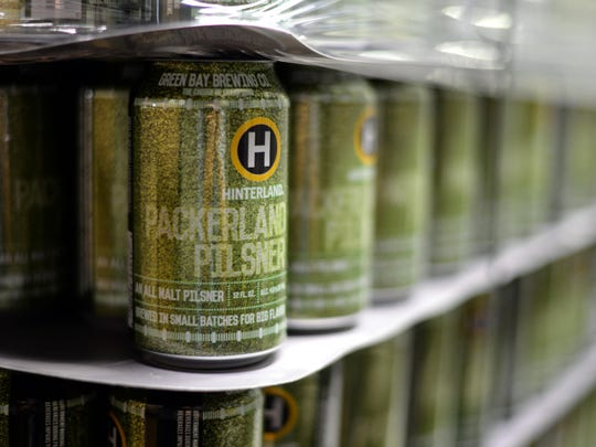 Cans wait to be filled at Hinterland Brewery at 313 Dousman St. Hinterland is moving to the Titletown District.