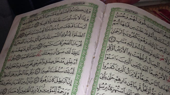Quran with some pages ripped out following a vandalism spree Sept. 17, 2014, at the Hudson Valley Islamic Community Center in Mohegan Lake. Three 12- and 13-year-olds were charged.