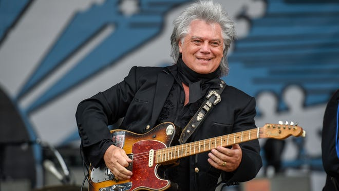 Marty Stuart plays for the crowd on the second day of the Pilgrimage Music and Cultural Festival in Franklin on Sept. 24, 2017.