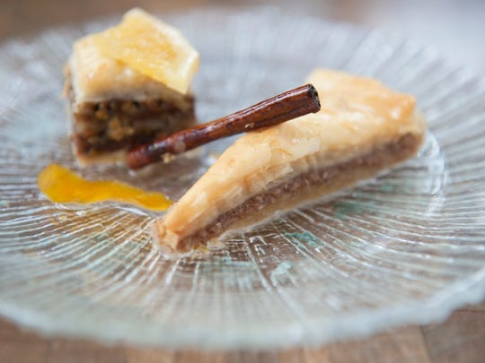 You can try baklava made with both walnuts and pistachios at Kanella in Philadelphia.