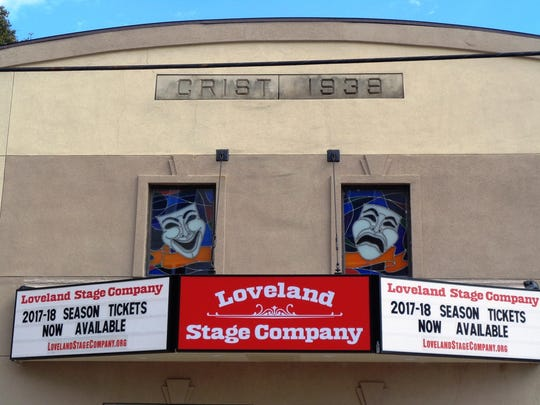 The new marquee for the Loveland Stage Company Theater