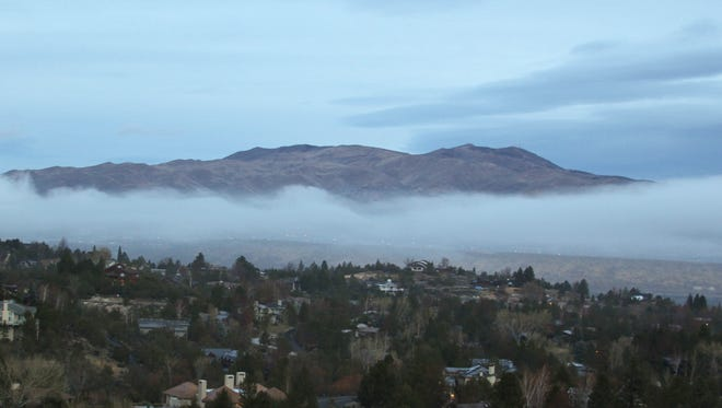 FILE PHOTO: Submitted by Kim Messer Low fog covers Peavine on Monday.