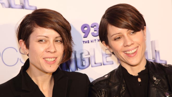 "The Quin sisters (Tegan, left, and Sara) will sing ""Everything Is Awesome"" from ""The Lego Movie."""