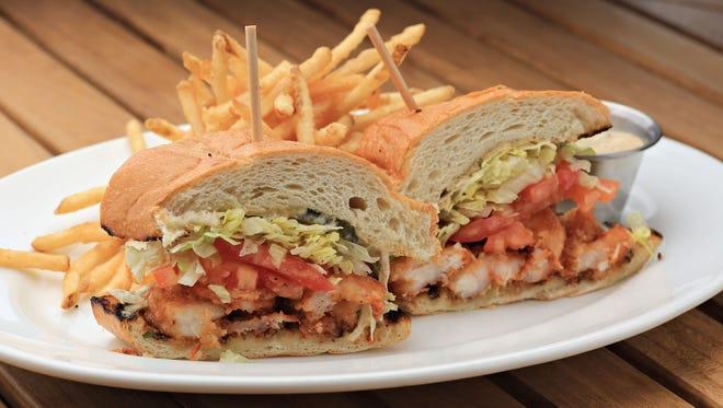 The shrimp po'boy from Grassroots Kitchen and Tap, as seen on May, 21, 2014 in Phoenix.
