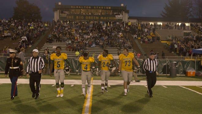 Reynolds' team captains for Friday's home game against Asheville High.