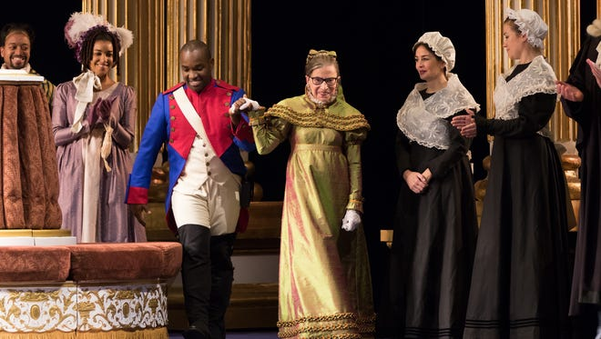 Justice Ruth Bader Ginsburg played the Duchess of Krakenthorp in her Washington National Opera debut Saturday night.