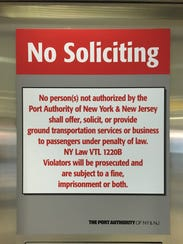A no solicitation photo for ground transportation services