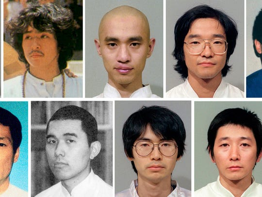 This combination of undated file photos shows 13 members