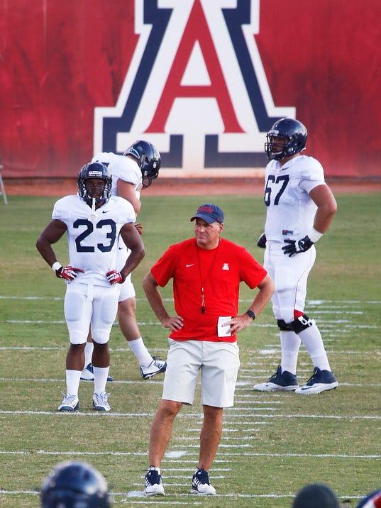 Arizona Wildcats football practice