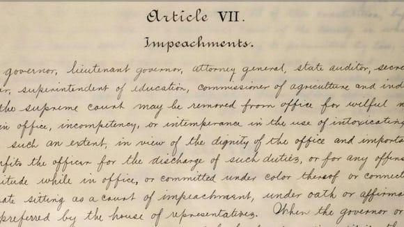 A manuscript copy of the 1901 Alabama Constitution's