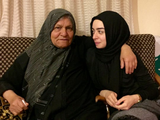 "Rula Tareq sits with her grandmother, Roukaya Tarhini, in Lebanon following the death of her mother. ""Seeing my grandma was the best part of my trip,"" Tareq said. ""All of my aunts and uncles told me that when I arrived, she became a completely different person because seeing me was like seeing my mom.  ""For me, seeing her was like seeing my mom so that was beyond comforting to say the least."""