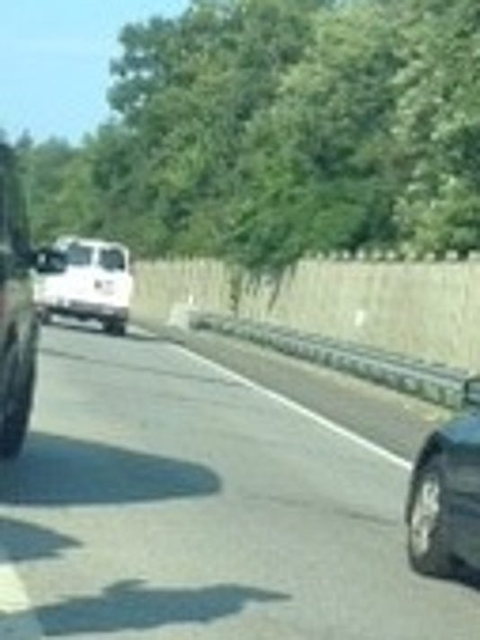 Police investigate U-Haul van on I-95