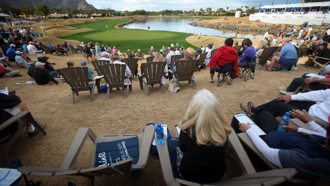 Spectators on 18 on the TPC Stadium Course during the third round of the CareerBuilder Challenge on Saturday.