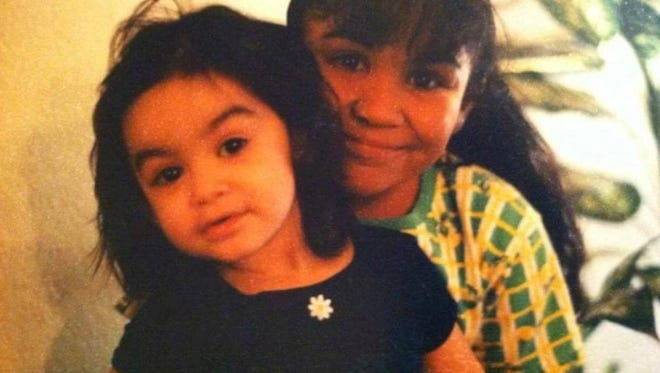 Kristal Silva (left) with her sister Kristie in 2009. Kristie died that year.