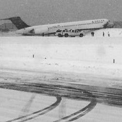 Scene of crash of Delta flight # 1086 at LaGuardia Airport.