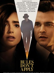 """The poster for """"Rules Don't Apply."""""""