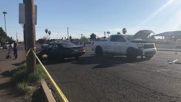 An accident on 43rd and Maryland Avenues in Phoenix on Sunday left two children dead. It was dispatched as a car-pedestrian accident