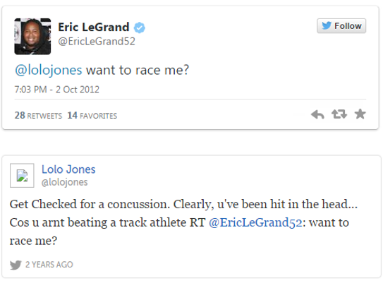 Eric LeGrand's infamous exchange with American track