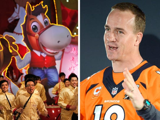 Millions celebrated the Chinese New Year on Friday. Peyton Manning was in a pretty good mood for Media Day during Super Bowl festivities, too.
