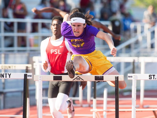 Fort Pierce Central's Ethan Mulrooney competes in the