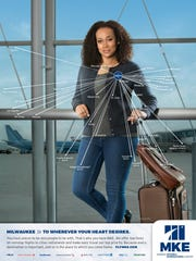 A new marketing campaign for Mitchell International features the airport's nonstop destinations.
