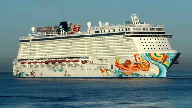 Norwegian Cruise Line's 4,028-passenger Norwegian Getaway.