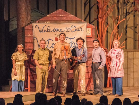 "The cast sings in Northern Sky Theater's musical ""Victory"