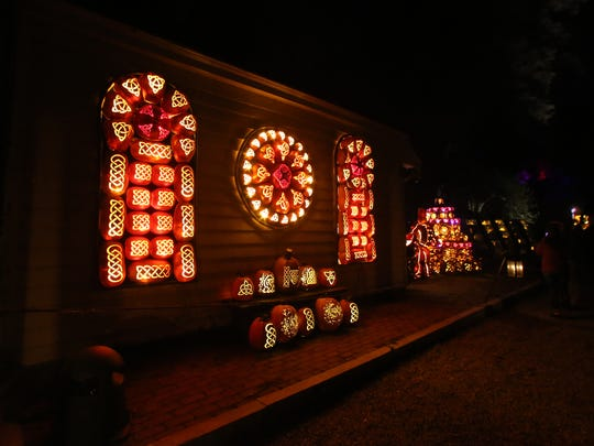 Sights of The Great Jack O'Lantern Blaze at {location in {city} on Friday, September 29, 2017.