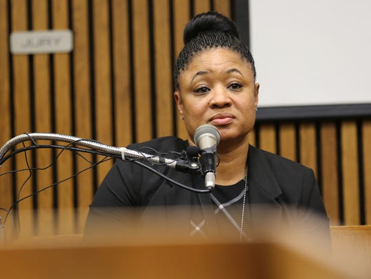 Michigan State Police 1st. Lt. Twana Powell testifies