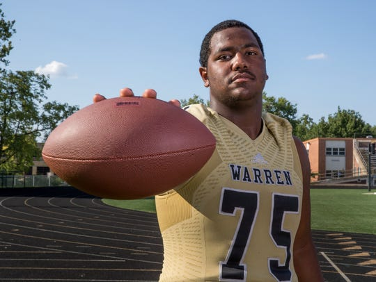 Justin Britt, offensive lineman, Warren Central High