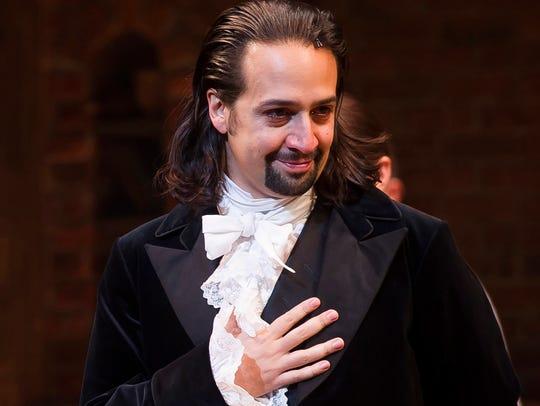 Lin-Manuel Miranda at curtain call on opening night