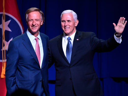 Gov. Bill Haslam introduces Vice President Mike Pence