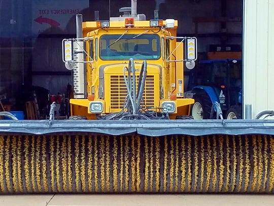 A large truck used to clear ice and snow at Abilene