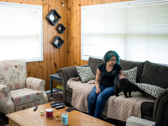 Justine Scott, 23, of Williamstown struggled amid her boyfriend's addiction and sought her own treatment.