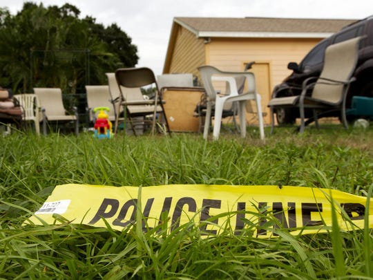 Luxury Vance, 12, was shot three times early Sunday morning outside her aunt's house, pictured, on the 1800 block of Fountain Street in Fort Myers.
