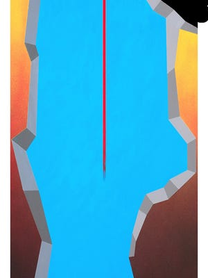 """Vankaal I is a 2013 work of art by  Dean Dablow.  A retrospective exhibit of his work """"Everything is Abstract"""" will be on display at the Masur Museum Nov. 28-March 11."""