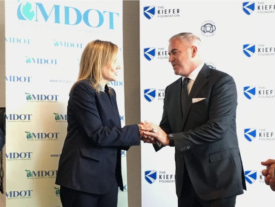GM VP of purchasing Steve Kiefer and GM CEO Mary Barra