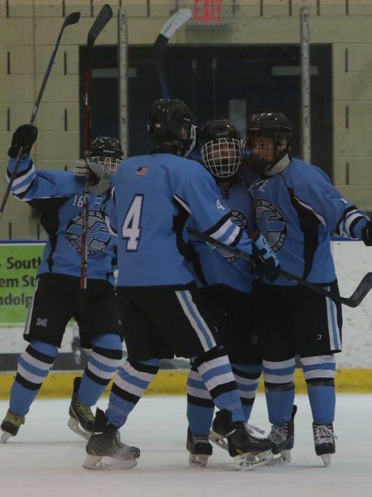 Mahwah vs Glen Rock --  Public B State Hockey Semifinals --
