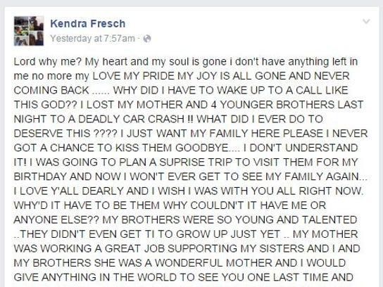 Kendra Fresch, one of Durjuana Miller's daughters,