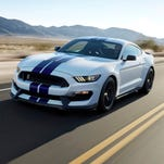 Ford unveils iconic Shelby GT350 Mustang before Los Angeles Auto Show