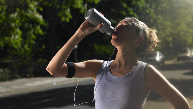 Anyone who is actively sweating should drink between 4- and 8-ounces of water every 15 minutes.