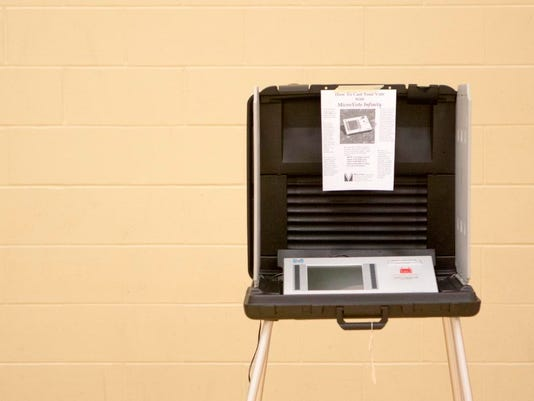 Voting booth Muncie 2015