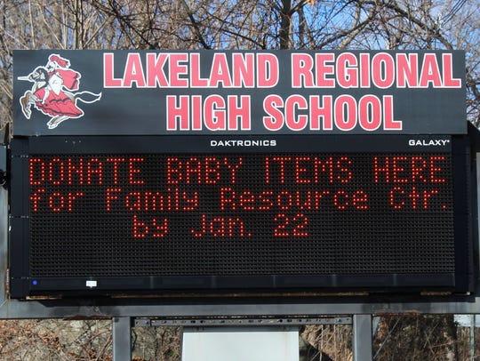 Lakeland Regional High School will see a decrease in