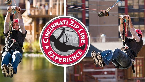 Cincinnati Zip Line Experience, presented by Cintas, will set up an 80-foot launch tower in front of the National Underground Railroad Freedom Center.
